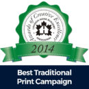 ACE 2014 Best Traditional Print Campaign